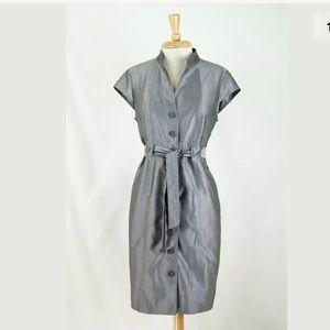 Calvin Klein Silver Gray Career Work Shirt Dress
